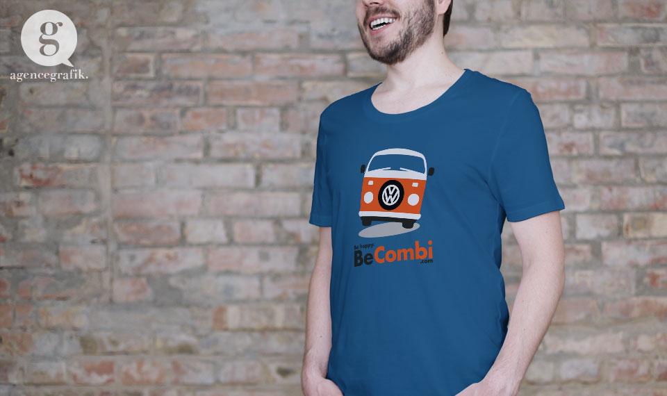 T-shirt pour le site BeCombi | agencegrafik.