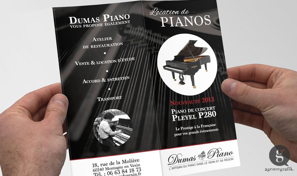 Flyer les Pianos du Vexin | agencegrafik.