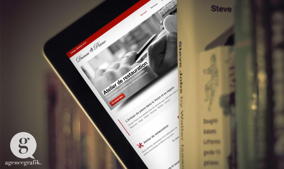 Site web des Pianos du Vexin | agencegrafik.