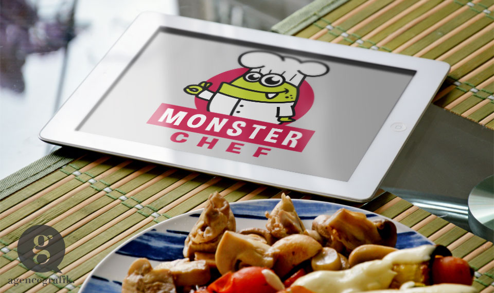 Le logo Monsterchef | agencegrafik.