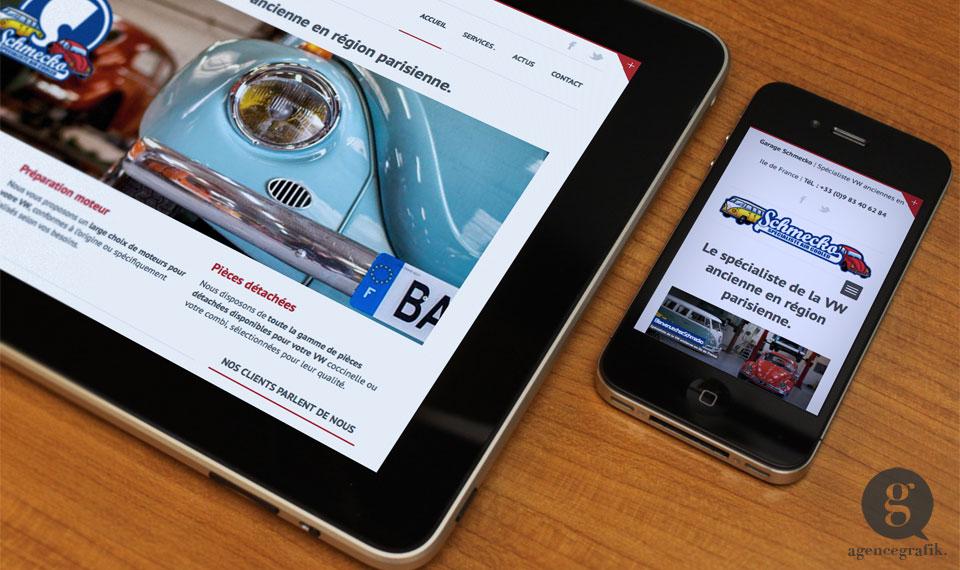 Le site web responsive du Garage Schmecko | agencegrafik.