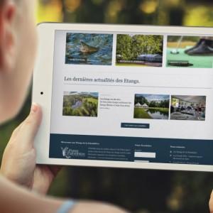 Site web Etangs Palombiere | agencegrafik.