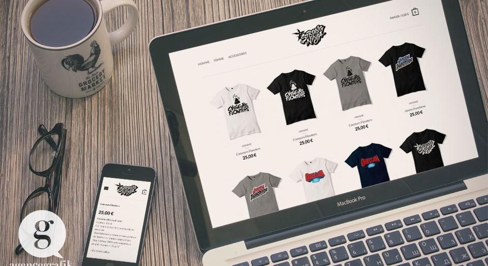 StrongNinja - Boutique en ligne de l'artiste Orelsan | agencegrafik.