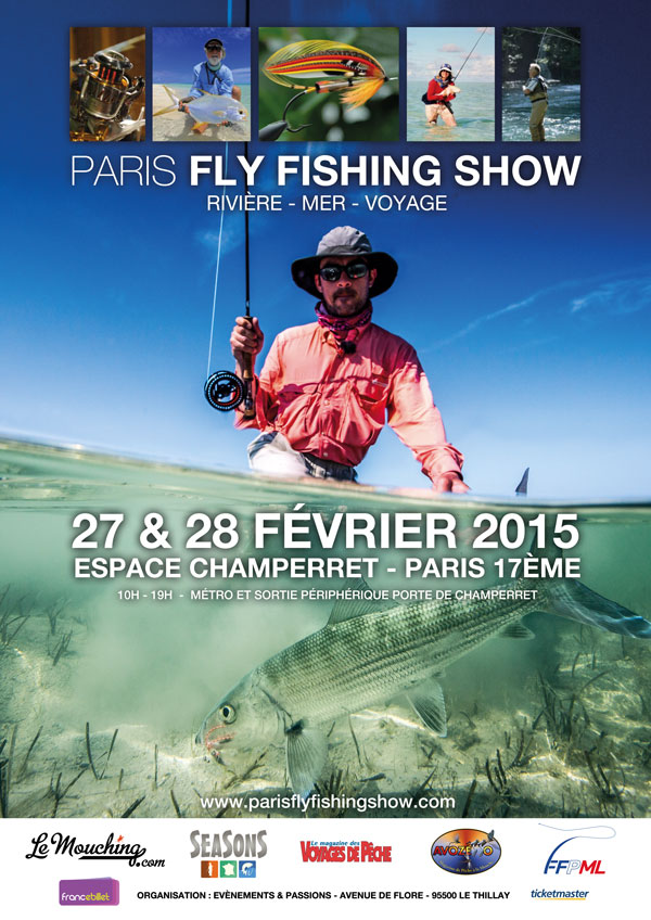 Affiche Paris Fly Fishing Show 2015 | agencegrafik.