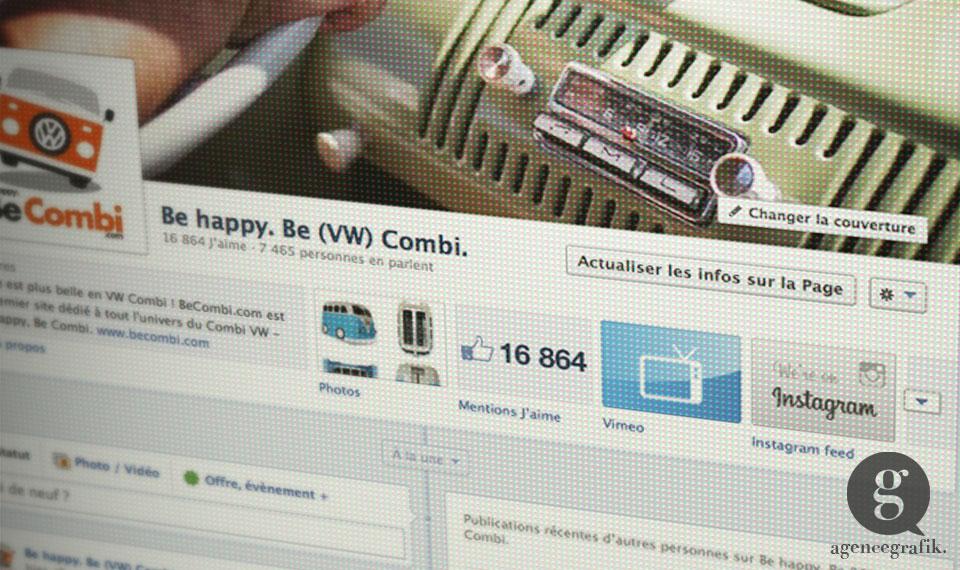 Page facebook du site BeCombi | agencegrafik.