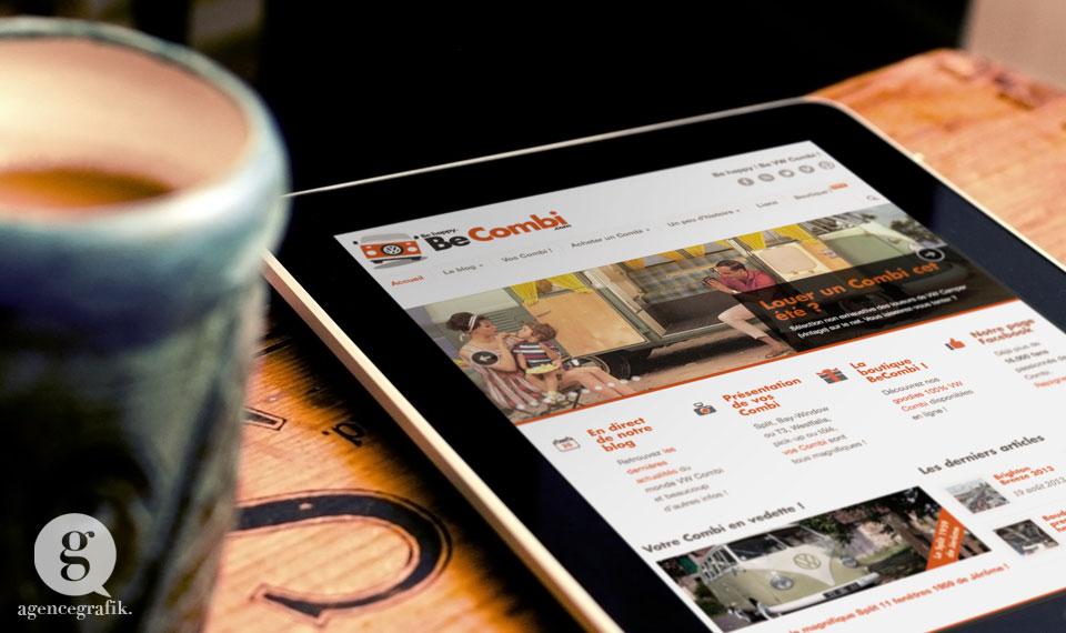 Le site responsive de BeCombi | agencegrafik.