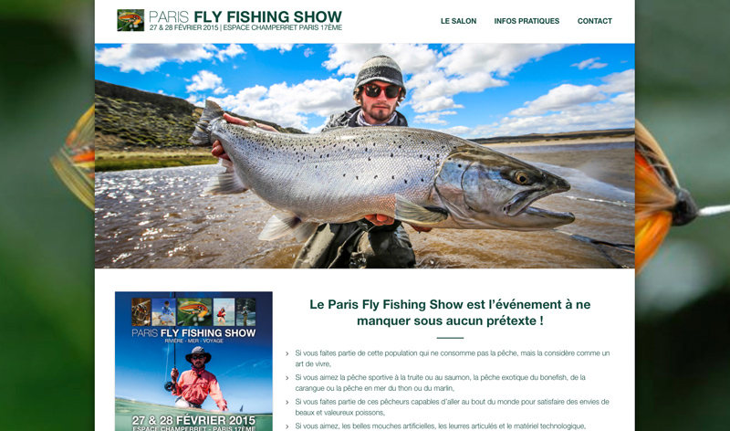 Site web Paris Fly Fishing Show 2015 | agencegrafik.